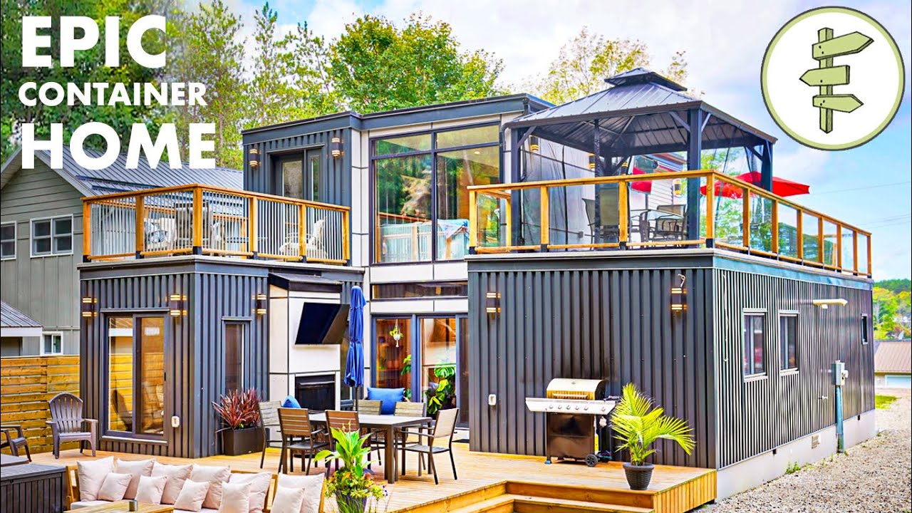Download Mind-Blowing Modular Shipping Container Home with Open-Concept Design - Full Tour