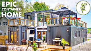 Mind-Blowing Modular Shipping Container Home with Open-Concept Design - Full Tour