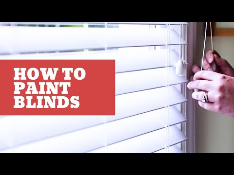 How to Spray Paint Window Blinds