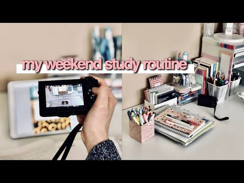 Weekend Study Routine + Study With Me ☆ IB Revision