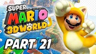 Super Mario 3D World Walkthrough Part 21 - Bullet Bill Base (100% Green Stars & Stamps)