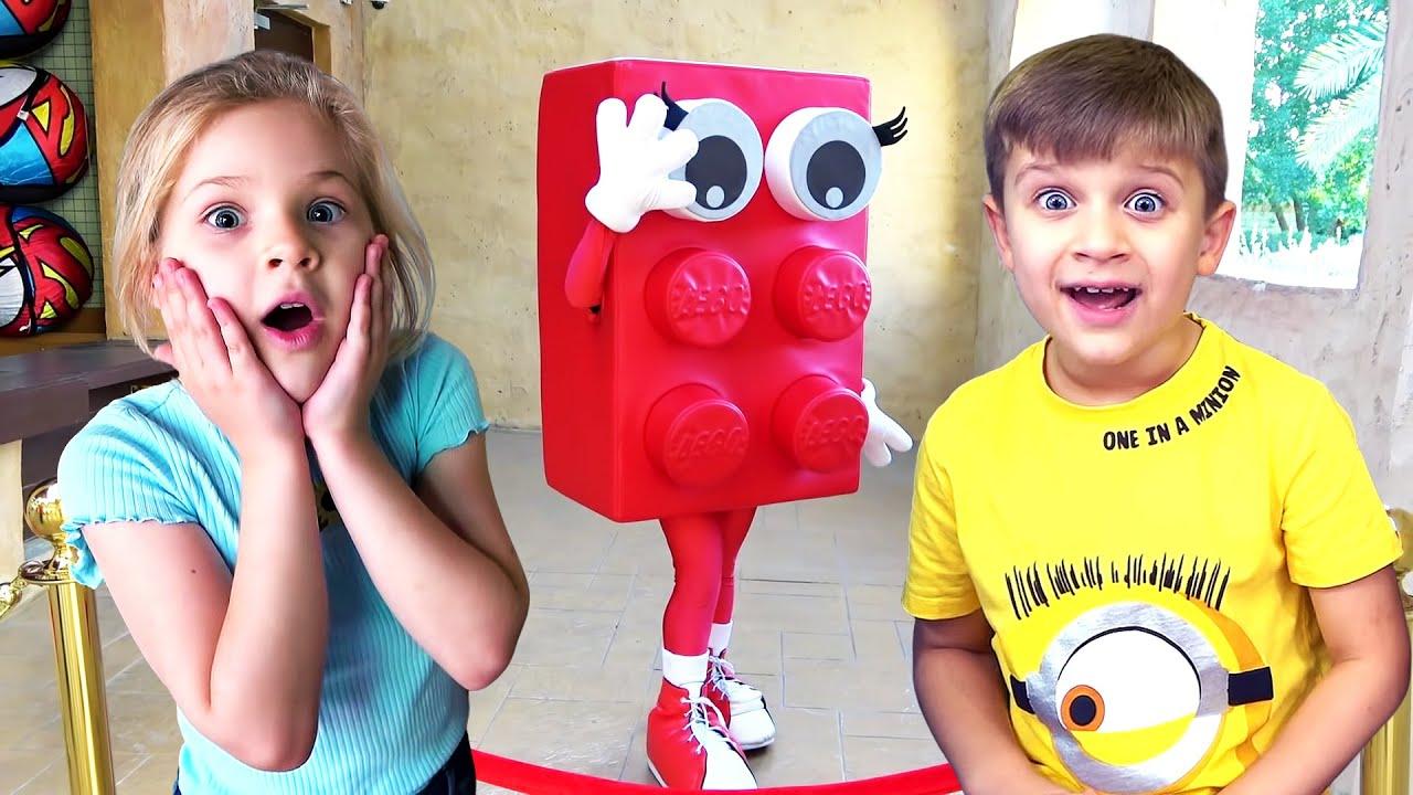 Diana e Roma em Legoland! Diversão Familiar no Parque para Crianças