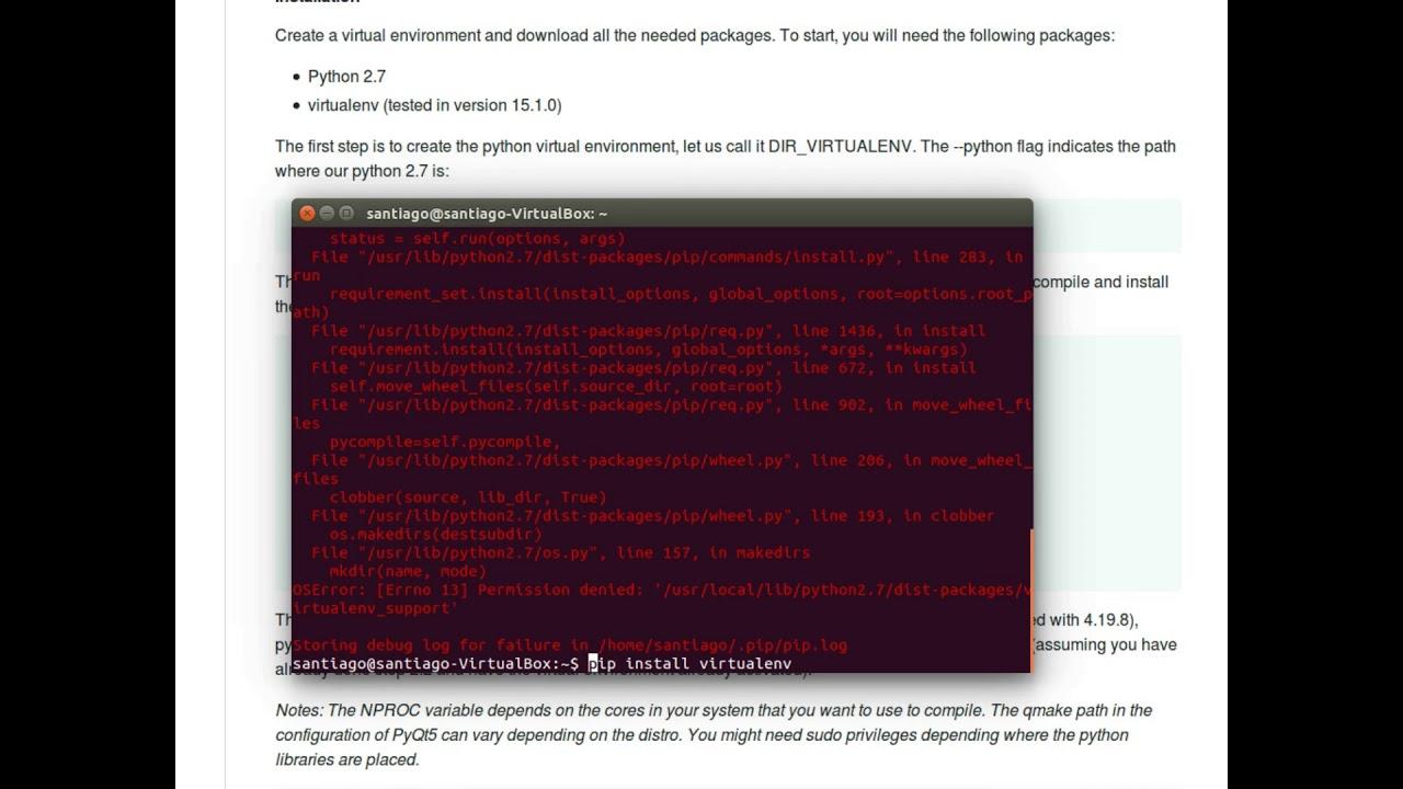 1 - ICESym - Ubuntu14 04 - Setup Virtual Environment