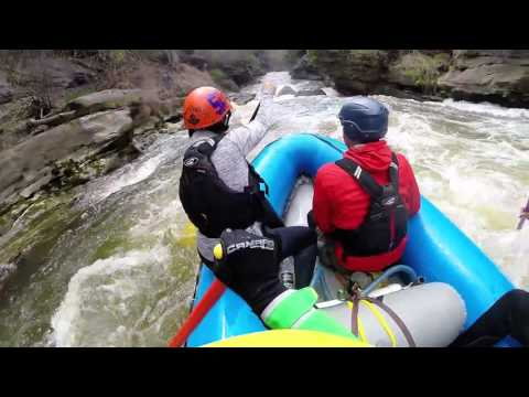 """Rafting Cuyahoga River Upper Gorge """"Sheraton"""" Section"""