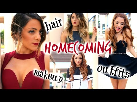 Homecoming | Hairstyles, Make-Up Looks, + Dress Ideas with Niki and Gabi!