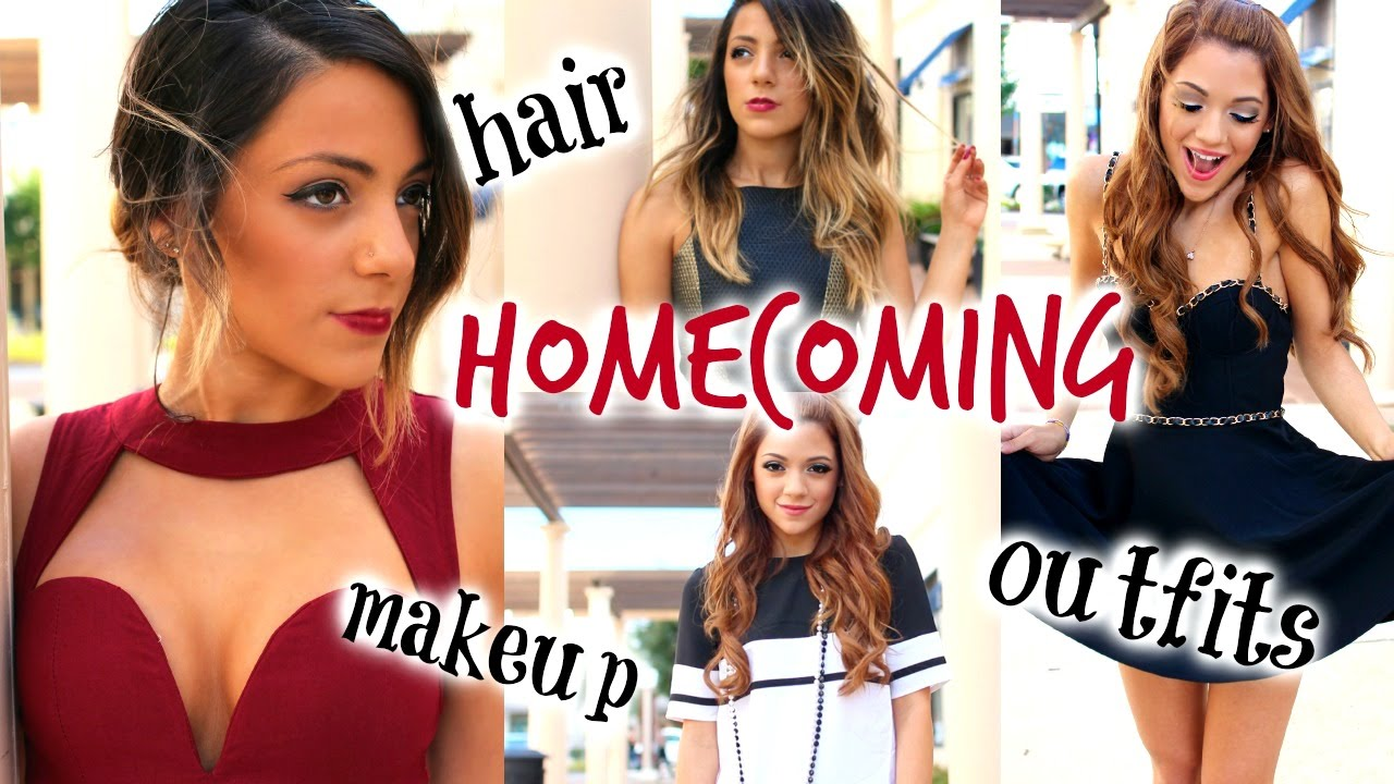 Homecoming | Hairstyles, Make-Up Looks, + Dress Ideas with