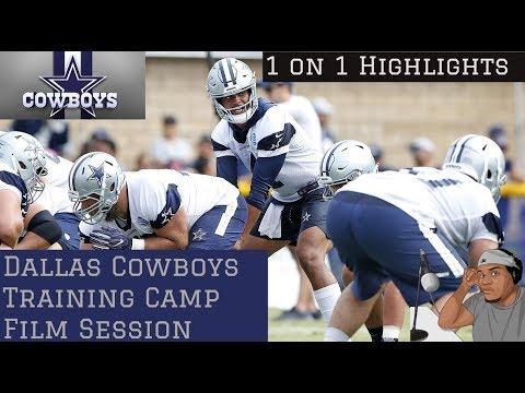 Dallas Cowboys Training Camp Highlights || 1 on 1 Film Breakdown OL vs DL/Wr vs Db