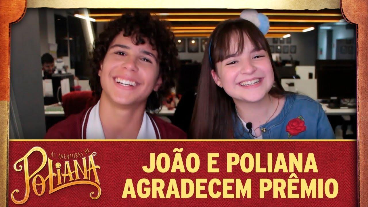 João e Poliana agradecem Prêmio de Melhor Novela   As Aventuras de Poliana