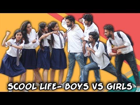 SCHOOL LIFE BOYS VS GIRLS | BakLol Video |