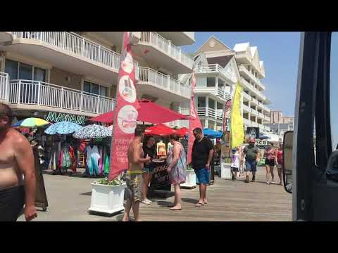 Ocean City, Maryland Boardwalk From Beginning To End