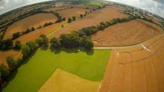 Quadcopter multirotor drone flying in suffolk uk