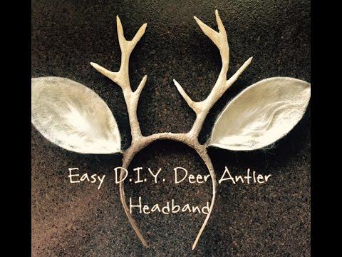 Easy D.I.Y. Deer Antlers - YouTube