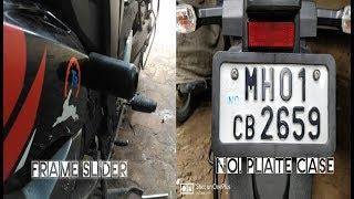 Frame Slider & No. Plate Case For Suzuki Gixxer...