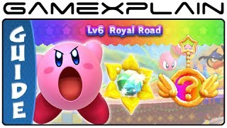 Kirby Triple Deluxe - World 6 Sun Stones & Rare Keychains Guide & Walkthrough (3DS)