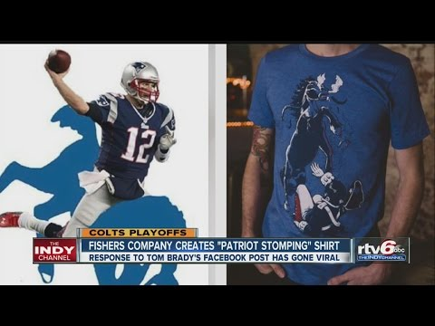 Fishers shirt company has response to Tom Brady post