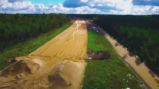 видео Строительство трассы М-11 «Москва – Санкт-Петербург»
