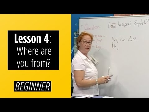 Beginner Levels - Lesson 4: Where are you from?