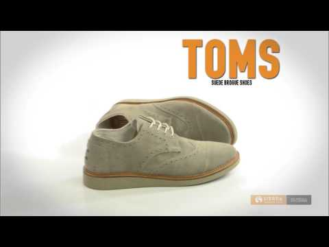 TOMS Suede Brogue Shoes - Lace-Ups (For Men)