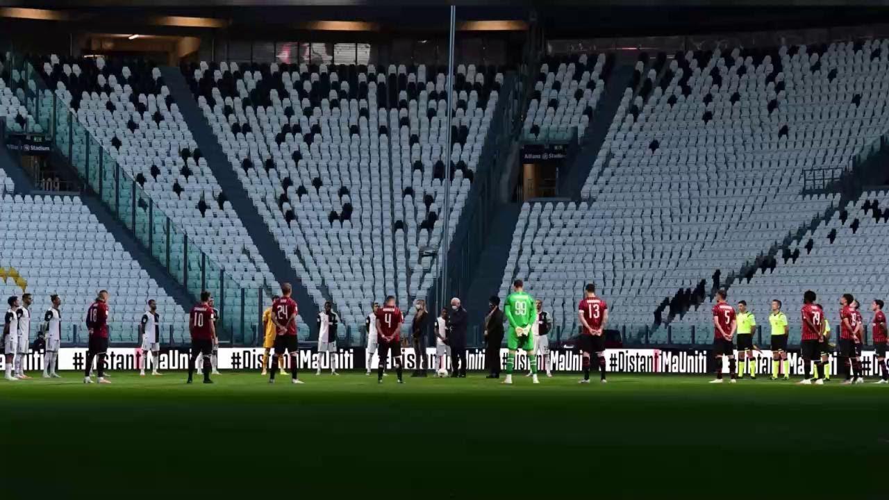 Juventus Milan Il Minuto Di Silenzio Per Le Vittime Del Coronavirus Un Immagine Che Ricorderemo Youtube