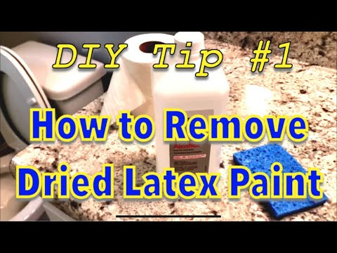 How To Remove Dried Latex Paint