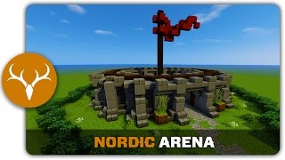 Minecraft Building Tutorial : How to build a Nordic Arena