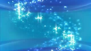 Футаж Голубые блески частицы