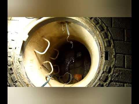 Установка обратного клапана в канализационном колодце