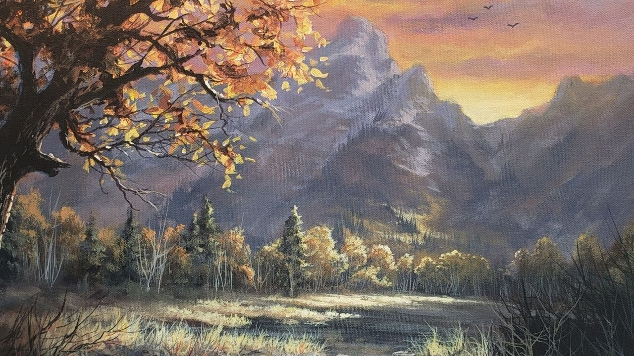 Vast Mountain Sunset | Landscape Painting