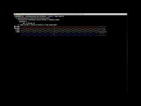 Smooth Jazz Nyan Cat Rspec Formatter