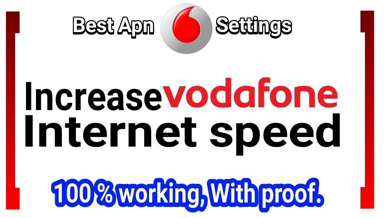 How to increase Vodafone 4g speed  Vodafone internet