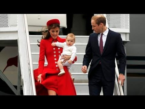 [VIDEO]: Baby Prince George,Kate And William Arrive On First Royal Tour To Australia, N.Z.