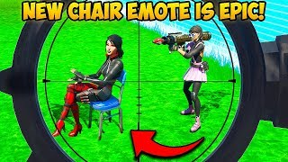 *NEW* CHAIR EMOTE IS SAVAGE!! - Fortnite Funny Fails and WTF Moments! #766
