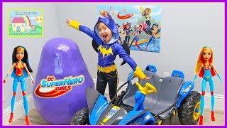 Huge Superhero Girls Toys Egg Surprise Opening with Batgirl!
