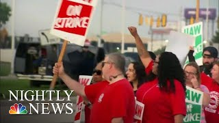 Tens Of Thousands Of Auto Workers Strike Against General Motors | NBC Nightly News
