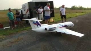 Clube Matogrossense de Aeromodelismo - Vôo Jato ERJ-145 Embraer.mp4