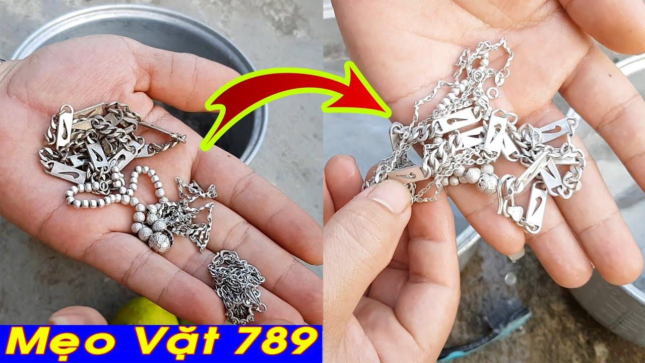 Cách đánh sạch dây chuyền bạc vòng bạc TRẮNG SÁNG NHƯ MỚI - Mẹo Vặt 789