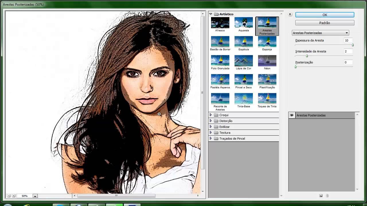 Transformando foto em desenho photoshop online 35