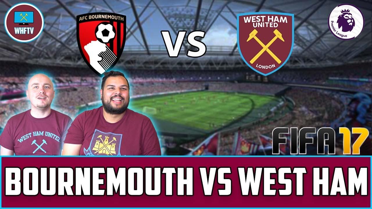 bournemouth vs west ham fifa match prediction   youtube