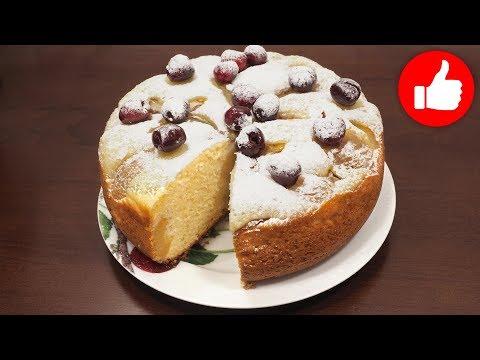 Пирог творожный с абрикосами в мультиварке