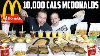 10,000 Calorie Challenge MCDONALDS ONLY | Cheat Day | Johnny The Food Junkie