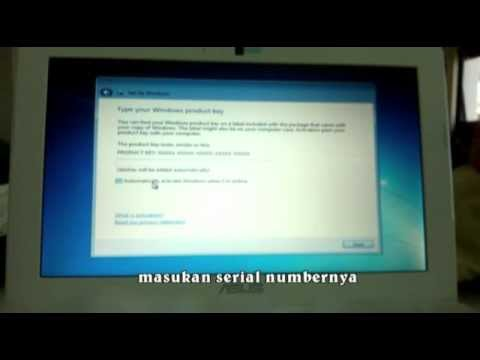 cara instal win 7 di laptop DOS - YouTube