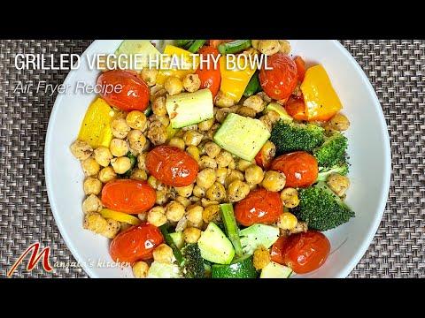 Grilled Veggie Healthy Bowl (Air Fryer recipe) by Manjula
