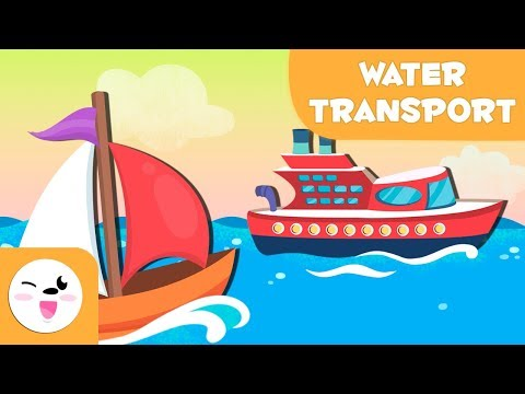 Water transport vehicles for kids - Vocabulary
