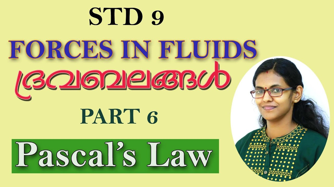 Forces In Fluids // Class 9 // Part 6  Pascal's Law // Malayalam