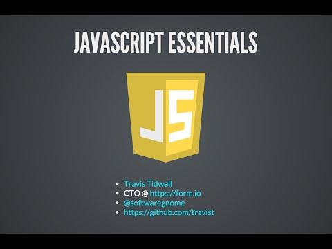Javascript Essentials (Revised)