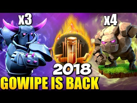 GOWIPE IS BACK: Level 4 PEKKA TH9 WAR ATTACK STRATEGY 2018 | Clash of Clans
