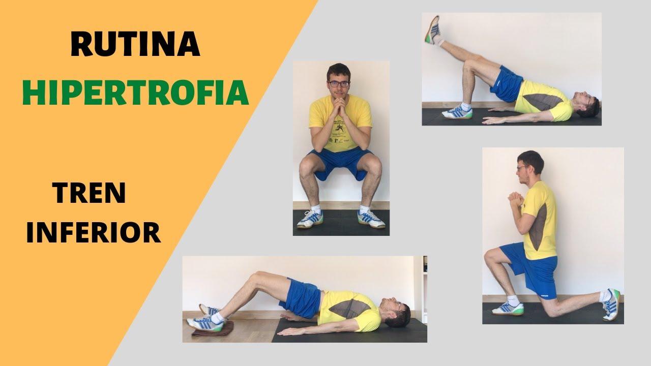 Rutina hipertrofia tren inferior | piernas y glúteos
