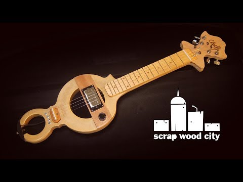 DIY electric guitar from an old wall clock