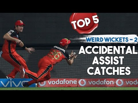 Top 5 - Weird Wickets 2 - Accidental Assist catches   Simbly Chumma