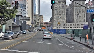 Driving Downtown - Olive Street 4K - Los Angeles USA